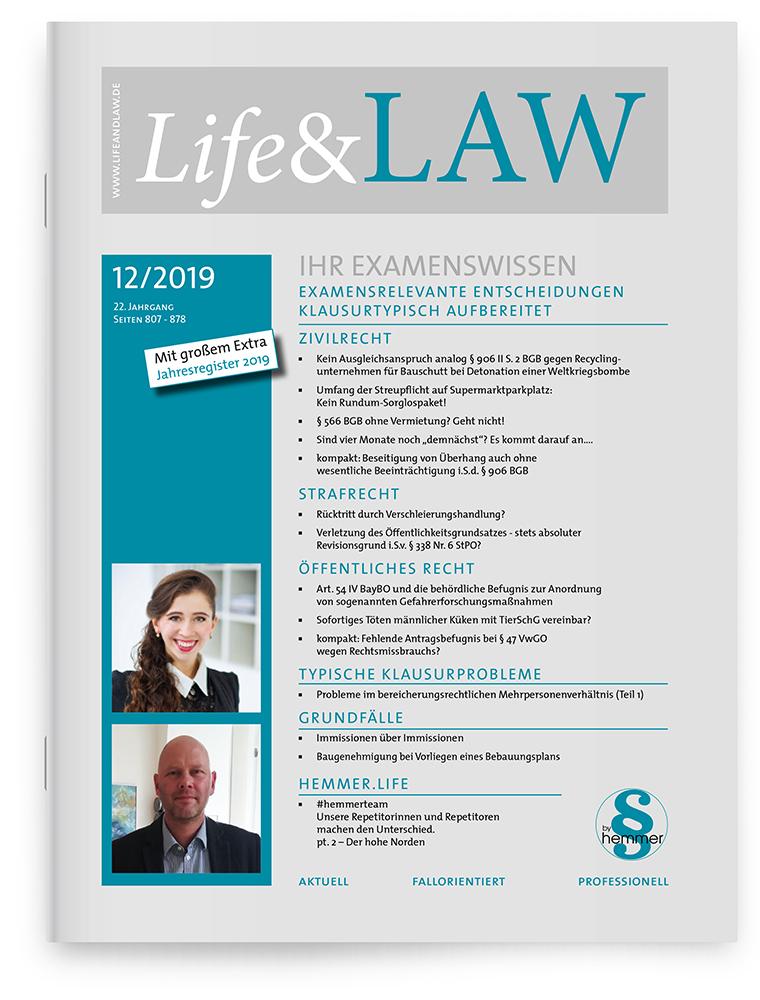 Life&LAW Ausgabe 2019/12