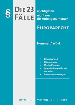 eBook - Die 23 wichtigsten Fälle Europarecht