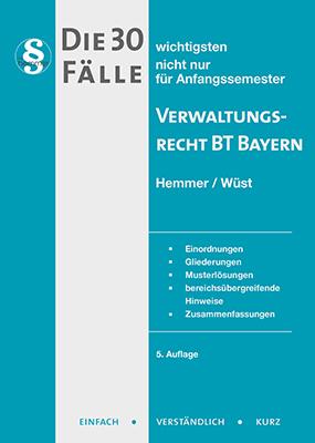 eBook - Die 30 wichtigsten Fälle Verwaltungsrecht BT Bayern