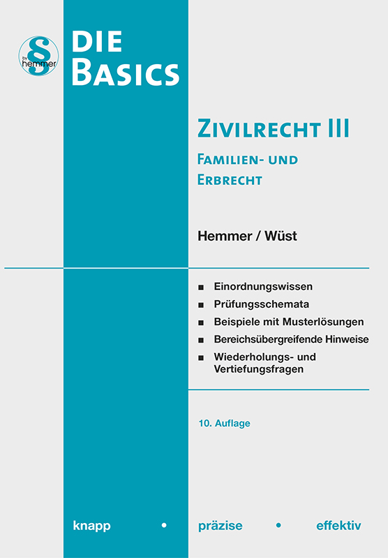 eBook Basics Zivilrecht III - Familienrecht / Erbrecht