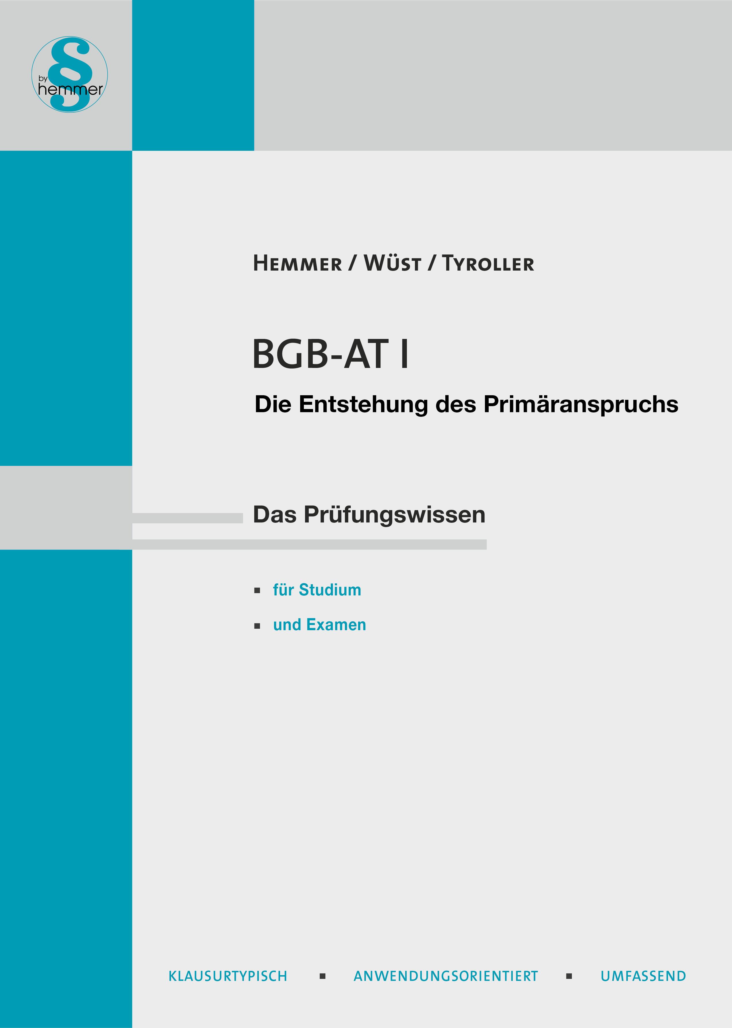 eBook BGB AT I - Entstehung des Primäranspruchs