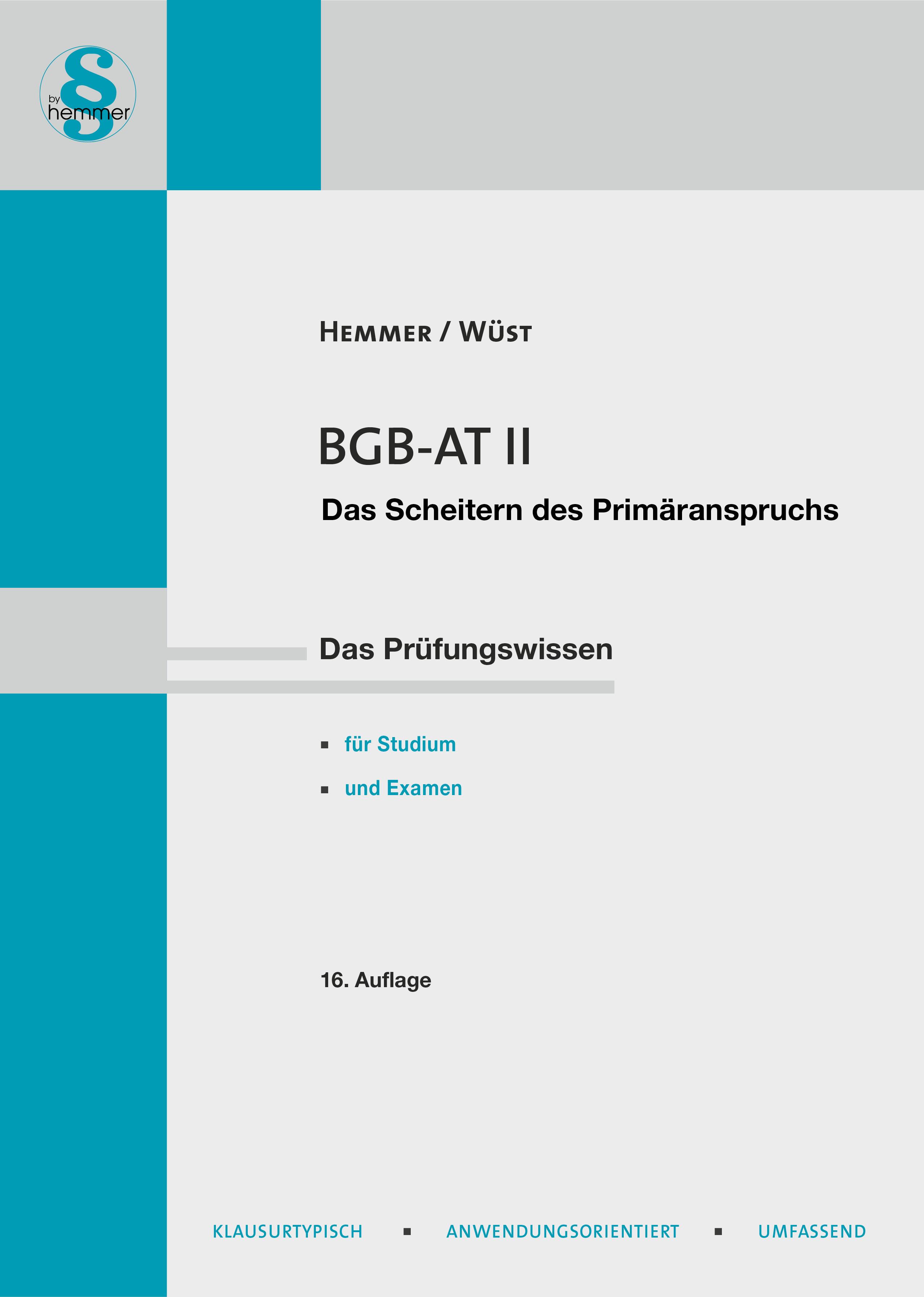 eBook BGB AT II - Das Scheitern des Primäranspruchs