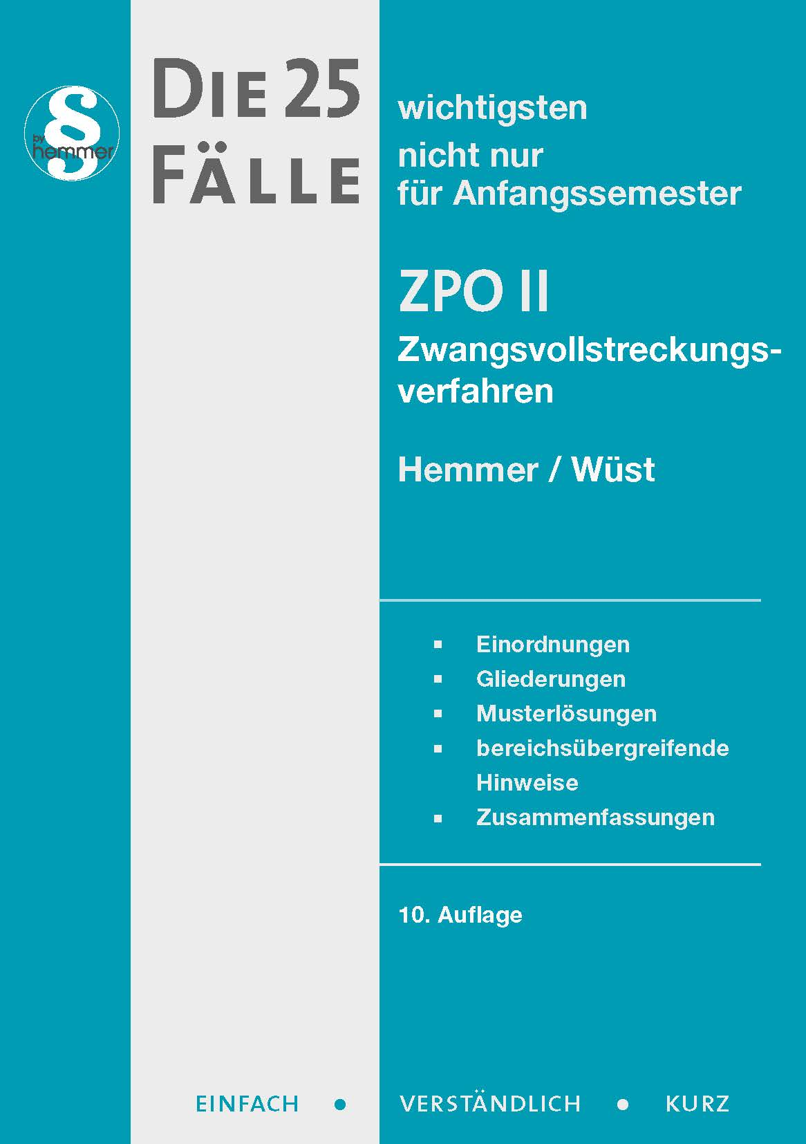 eBook - Die 25 wichtigsten Fälle Zivilprozessordnung II - ZPO II - Zwangsvollstreckungsverfahren