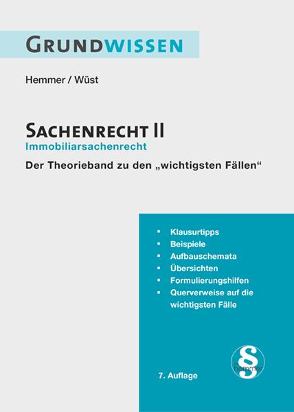 eBook Grundwissen Sachenrecht II - Immobiliarsachenrecht