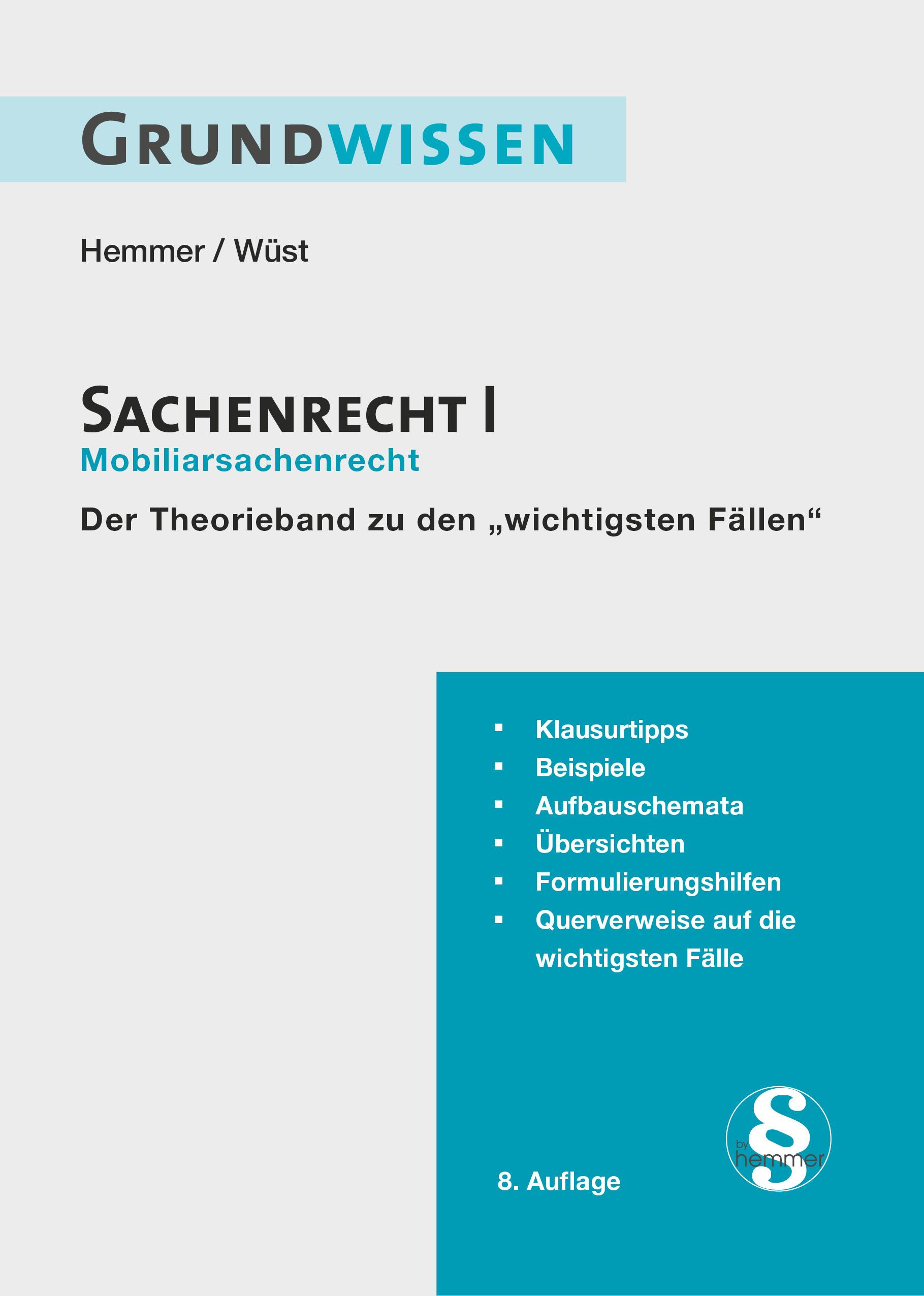eBook Grundwissen Sachenrecht I - Mobiliarsachenrecht
