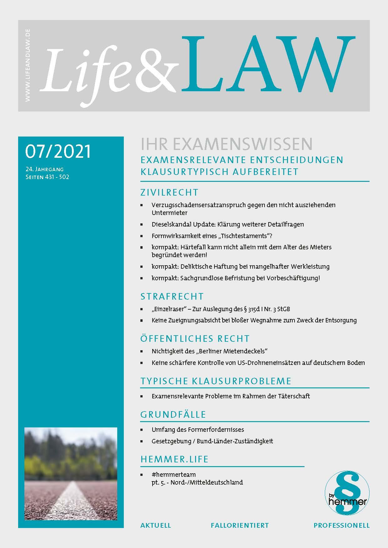 Life&LAW digital Ausgabe 2021/07