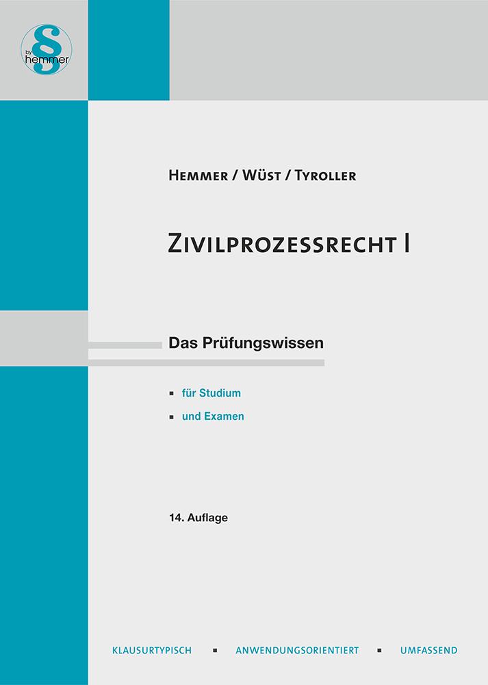 eBook Zivilprozessrecht (ZPO) I